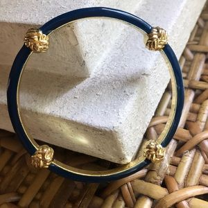 LILLY PULITZER NAUTICAL KNOT NAVY BANGLE BRACELET